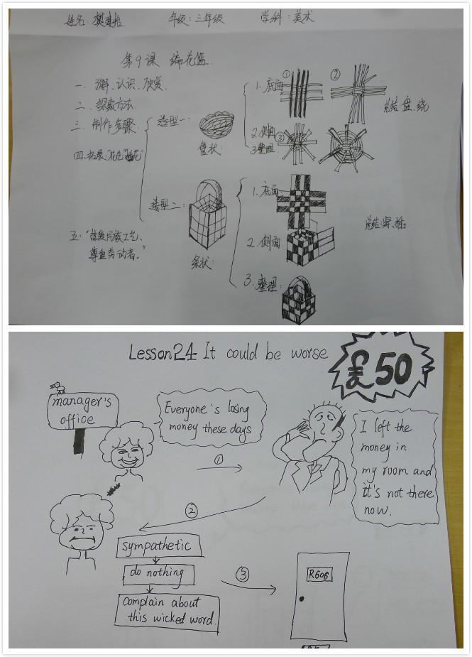"""新曙光小学教师""""板书设计""""比赛"""